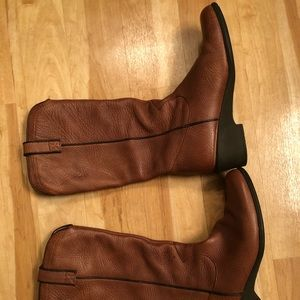 Cowboy style real leather boots